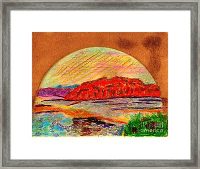 Red Mountain Utah Framed Print by Richard W Linford