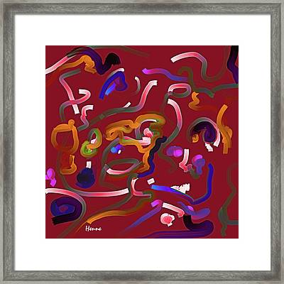 Red Musing Framed Print
