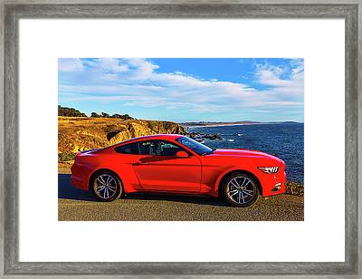 Red Mustang Sonoma Coast 2 Framed Print