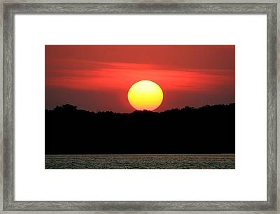 Red Myakka Sunset Framed Print