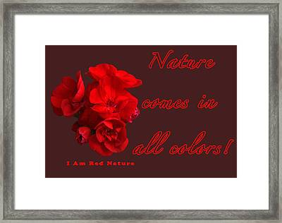 Red Nature Framed Print by Terry Wallace