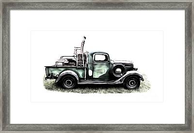 Red Neck Moving Day Framed Print