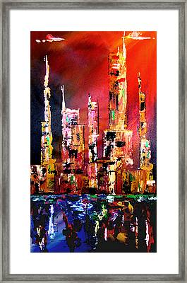 Red Nights Framed Print