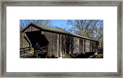 Red Oak Creek Covered Bridge Framed Print