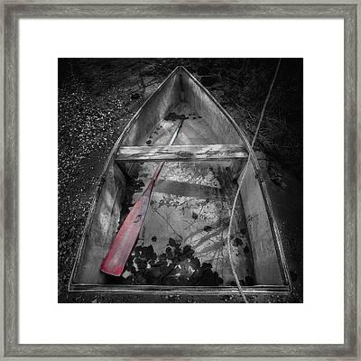 Red Oar Framed Print by Dapixara Art