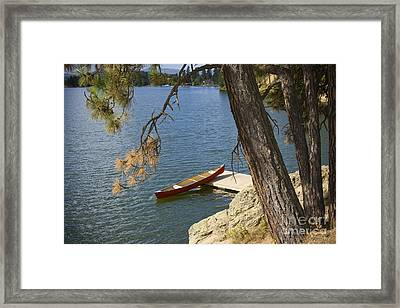 Red On Blue Framed Print by Idaho Scenic Images Linda Lantzy