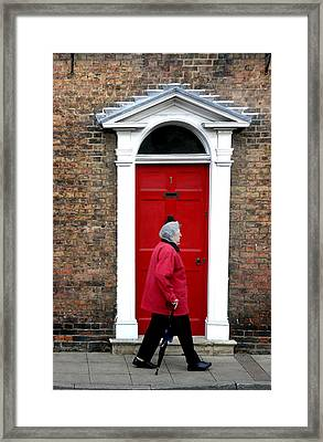 Red On Red Framed Print by Jez C Self
