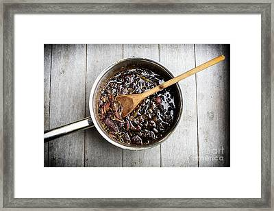 Red Onion Chutney Framed Print by Patricia Hofmeester