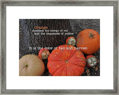 Red Orange Quote Framed Print by JAMART Photography