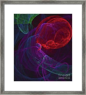 Red Orb Framed Print