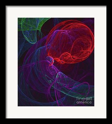 Floral Digital Drawings Framed Prints