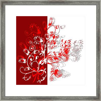 Red Ornament Framed Print by Svetlana Sewell