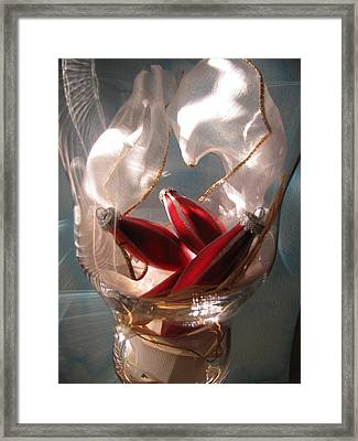 Red Ornaments Framed Print by Lindie Racz
