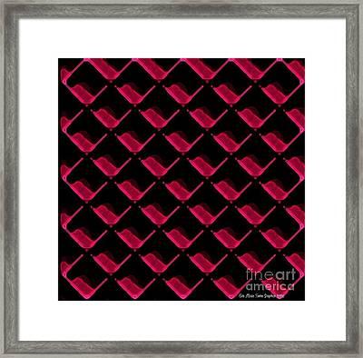 Red Ortho Framed Print