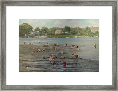 Clam Diggers Ri Shore Framed Print