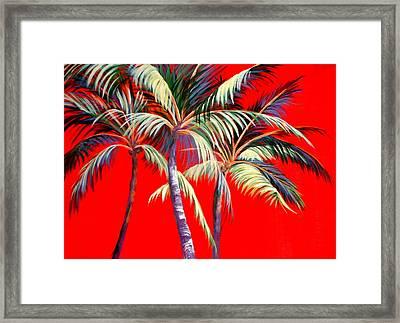 Red Palms Framed Print