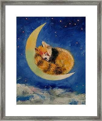 Red Panda Dreams Framed Print by Michael Creese