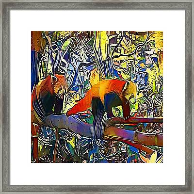 Red Panda - My Www Vikinek-art.com Framed Print by Viktor Lebeda