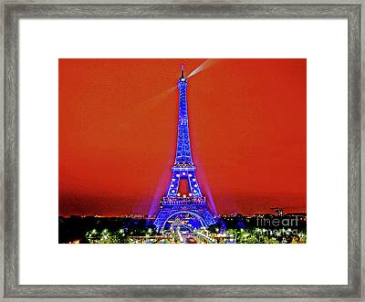 Red Paris Sunset  Eiffel Tower Framed Print