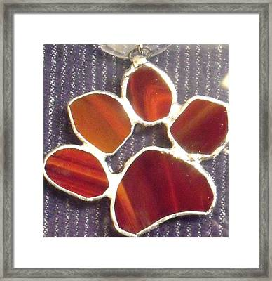 Red Paw  Framed Print by Djl Leclerc