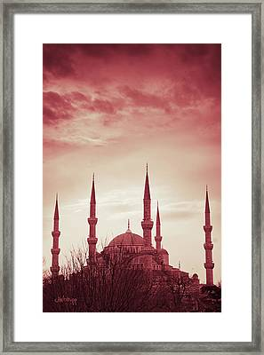 Red Peace Framed Print by Joseph Westrupp
