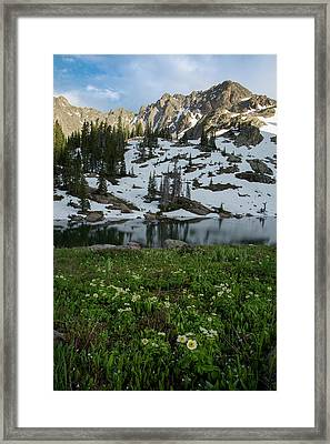 Red Peak And Willow Lake Framed Print by Aaron Spong