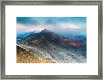 Red Peak Framed Print by Evgeni Dinev