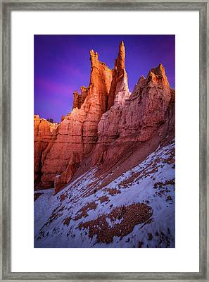 Red Peaks Framed Print by Edgars Erglis