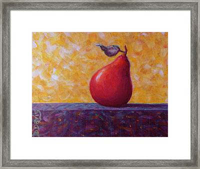 Red Pear Framed Print