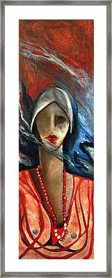 Red Pearls Framed Print by Niki Sands