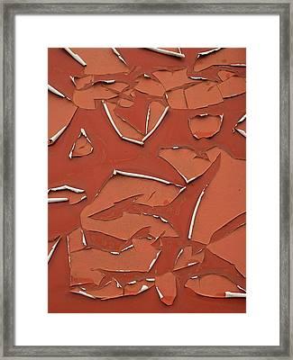 Red Peeling Paint Framed Print