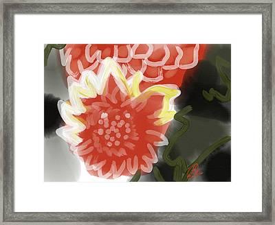 Red Penes Framed Print