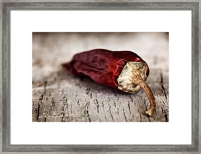 Red Pepper Framed Print by Boyan Dimitrov