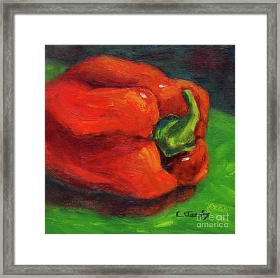 Red Pepper Still Life Framed Print