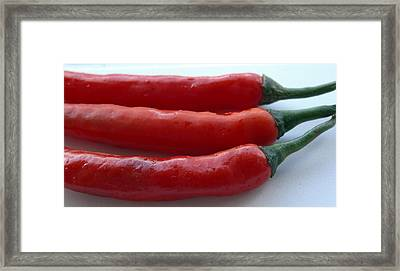Red Peppers Framed Print by Tropical Ties Dominica