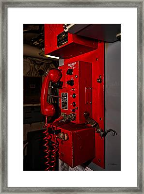 Red Phone Framed Print by Christopher Holmes