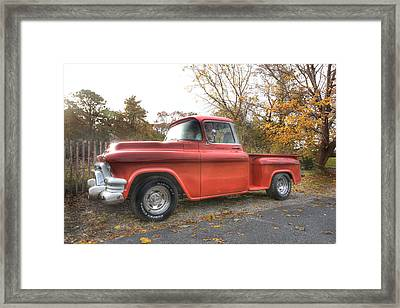 Red Pick-up Framed Print