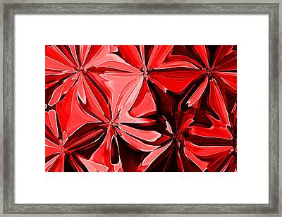 Red Pinched And Gathered Framed Print