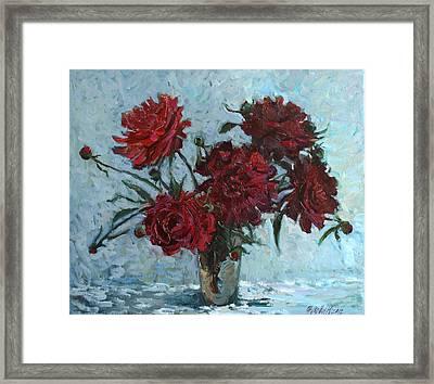 Red Piones Framed Print
