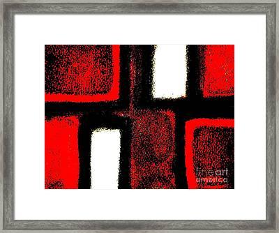Red Plaid Framed Print by Marsha Heiken