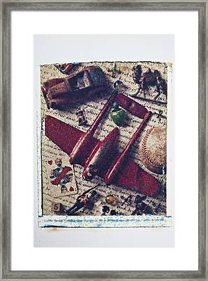 Red Plane Framed Print by Garry Gay