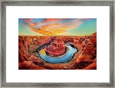 Red Planet Framed Print by Az Jackson