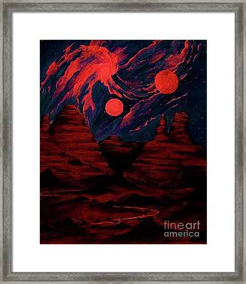 Red  Planet Framed Print