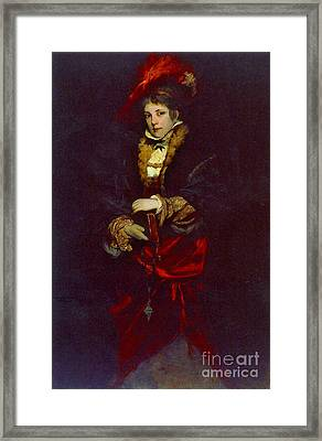 Red Plume 1873 Framed Print by Padre Art