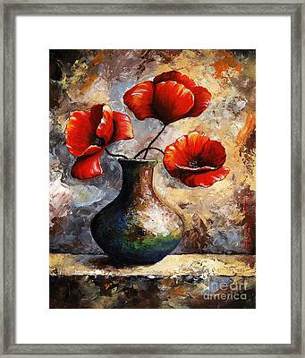 Red Poppies Framed Print by Emerico Imre Toth