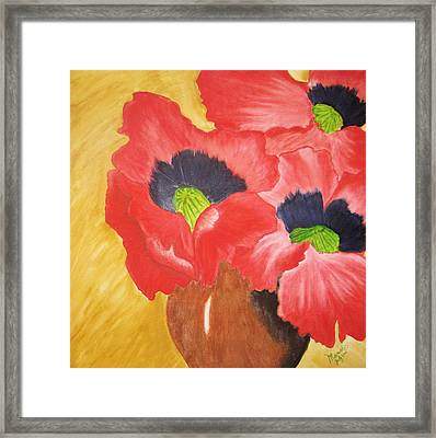 Red Poppies Framed Print by Maris Sherwood