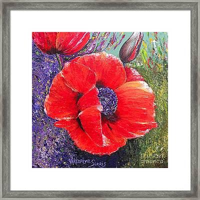 Red Poppies Framed Print by Viktoriya Sirris
