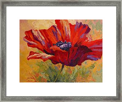 Red Poppy II Framed Print by Marion Rose