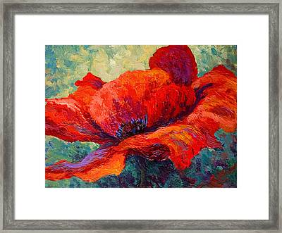 Red Poppy IIi Framed Print by Marion Rose