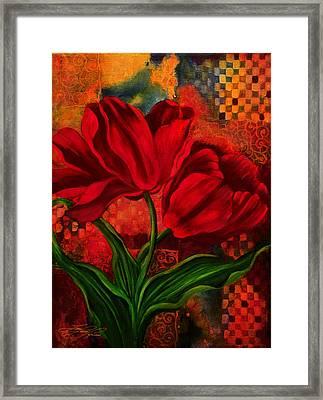 Red Poppy Framed Print by Lynn Lawson Pajunen